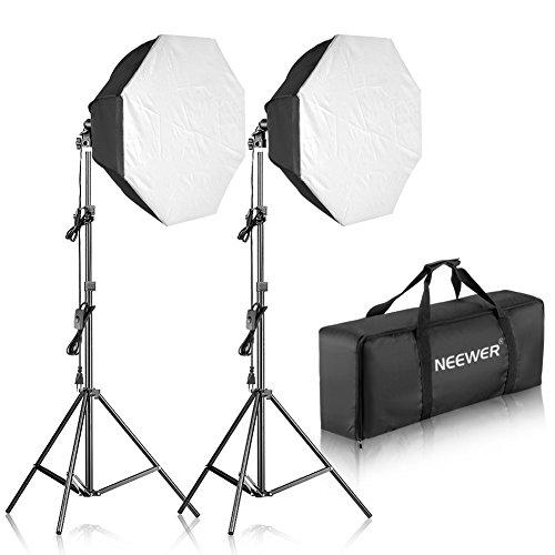 Neewer 700W Achteckige Softbox Kontinuierliche Beleuchtung Set für Kamera Foto Video Fotografie:2X 80x80cm Softbox 2X 85W 5500K...