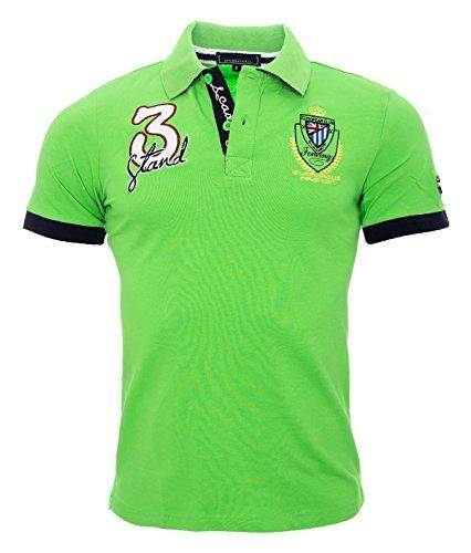 Herren Polo Shirt Kurzarm Sommer Herren Hemd England S-3XL Grün