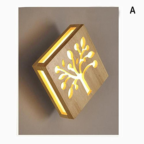 Zss lighting le meilleur prix dans amazon savemoney zss bedside lamp study solid wood wall lamp stairway aisle lights led corridor aloadofball Images