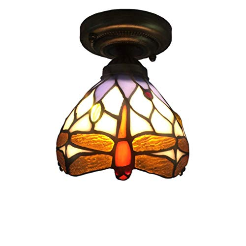 HAL Luz de Techo Creativa Techo Retro del vitral de Tiffany Minimalista...