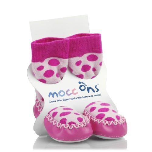 HIP HOP SLAM. SPIG - Calcetines para bebé, talla 6-12 Months - talla inglesa, color pink spots
