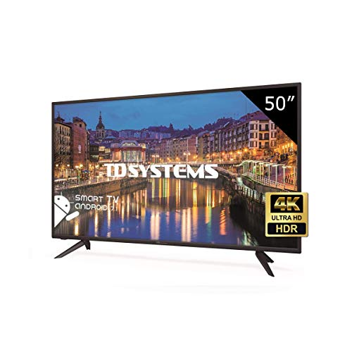 TD Systems K50DLH8US - Televisor Led 50 Pulgadas Ultra HD 4K Smart, resolución 3840 x 2160, HDR10, 3X HDMI, VGA, 2X USB, Smart TV.