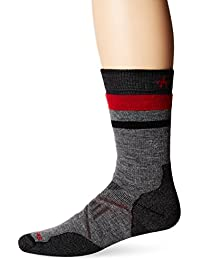 Smartwool Herren Phd Outdoor Pattern Crew Socken, Grau, Medium (UK 5-7.5)