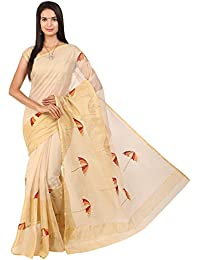 Craftghar Kota Doria Embroidery Work Saree No Border With Blouse Piece