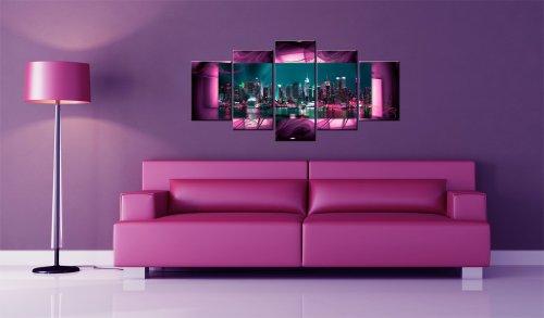 Bilder 200×100 cm – XXL Format – Fertig Aufgespannt – TOP – Vlies Leinwand – 5 Teilig – Wand Bild – Kunstdruck – Wandbild – Kunst Abstrakt 051477 200×100 cm B&D XXL - 2