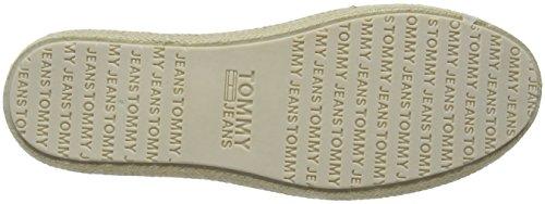 Hilfiger Denim Herren Tommy Jeans Check Slip on Shoe Slipper Schwarz (Black White Check 901)