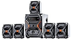 IKALL 5.1 Channel Multimedia Home Theater System(Black and Brown)