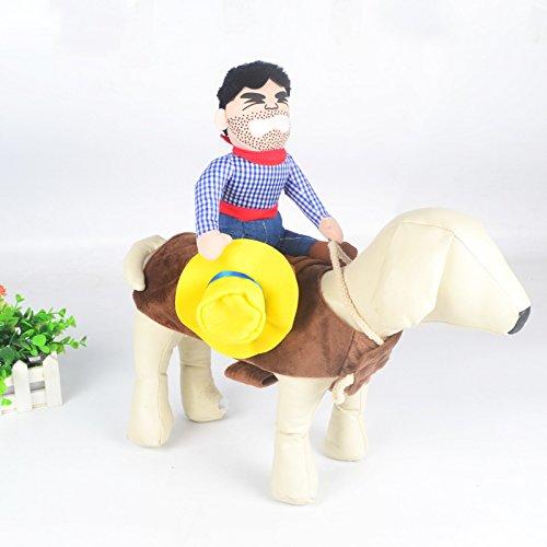 BulzEU Cowboy-Kostüm für Hunde und Katzen, Halloween-Kleidung, Haustier Kleidung, lustiges Haustier - Katze Cowboy Kostüm
