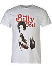 Billy Joel Official Natural Adult T-Shirt Mens White Top Tee Shirt