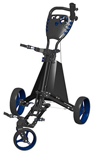Spin ES Golf Produkte Easy Drive Golf Push Cart, schwarz/blau