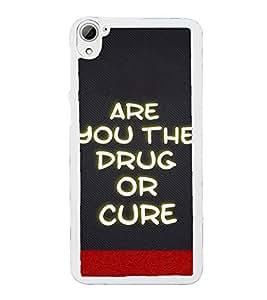 ifasho Designer Back Case Cover for HTC Desire 826 :: HTC Desire 826 Dual Sim (Drugs Medicine Cloth Cotton)
