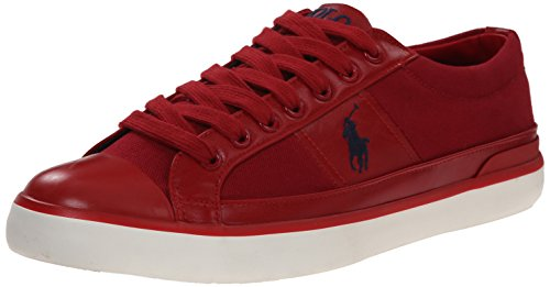 Ralph Lauren Mens Churston SK VLC Textile Trainers Devon Red