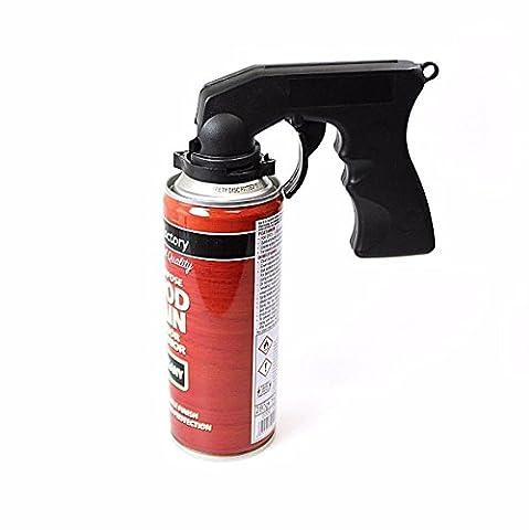 Aérosol Peinture spray Applicateur Gun–Pistolet à peinture, Twist & Lock Trigger Poignée et LED porte-clés lumière