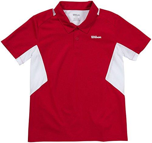 WILSON Great Get Jungen Poloshirt, Rot, S