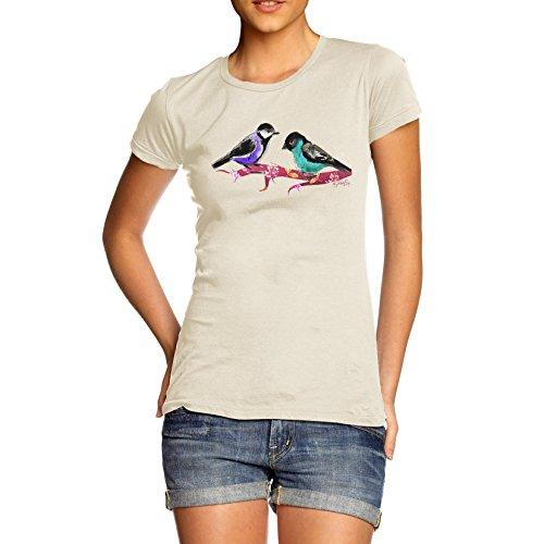 Damen Pretty Birds T-Shirt Elfenbein