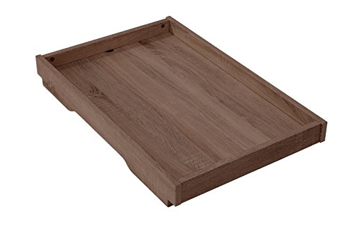 Tutti Bambini Milan Cot Top Changer with Walnut Finish