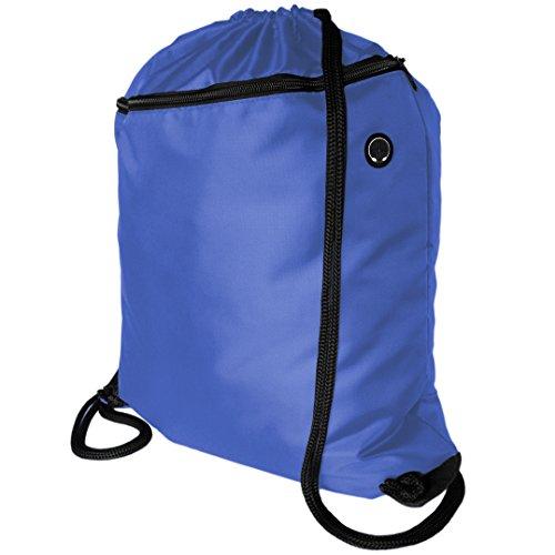 fbc0ed52f2 Zavalti Sac à dos avec cordon de serrage Sac de sport Grande poche zippée  avec passe