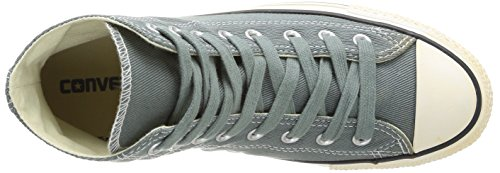 Converse Chuck Taylor All Star Homme Vintage Washed Back Zip Twill Hi 381790 Unisex - Erwachsene Sneaker Grau (12 GRIS)