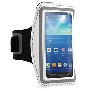 kwmobile Sport Armband für Samsung Galaxy S4 Active - Jogging Lauf Sporttasche Fitnessband mit Schlüsselfach im Sportarmband in Weiß Schwarz