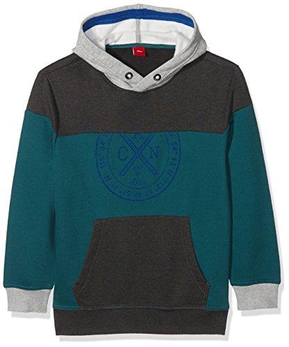 s.Oliver Jungen Sweatshirt 61.710.41.3163, Blau (Blue Green 6760), 164 (Herstellergröße: L/REG) Große Pullover Für Teens