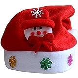 Da.Wa 1X Muñeco de Nieve Navidad Sombreros Fiesta de Navidad Gorro Aniversarios Cumpleaños Aumentar Ambiente Festivo 26 cm * 34 cm Paño