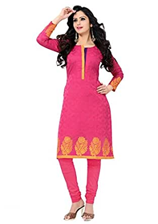 Salwar Studio Pink Dupion Silk Ethnic Kurti Ssk0238