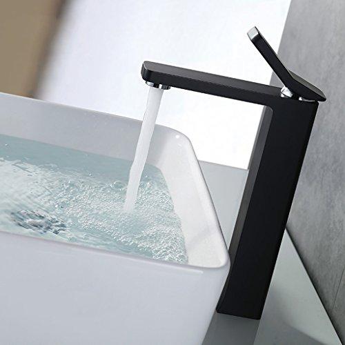 Tous Hot Copper Et Bassin d'eau froide robinet de bain unique au robinet bassin étape de bain pour augmenter le robinet de bassin évier ( couleur : Noir )