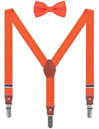 WANYING Tirantes Pajaritas Set para Niños Niñas 3 Clips Largos Fuertes en Y-Forma Elástico Tirantes para Altura 95-130cm