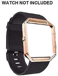 Brain Freezer Replacement Silicone Strap for FitBit Blaze Smart Watch (Black)