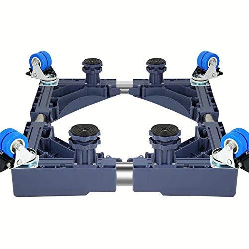 Waschmaschine Basis, Multifunktionswagen Waschmaschine Basis, Automatische Doppel Bar Trommel Waschmaschine Basis Für Waschmaschine Sockel Kühlschrank Basis Rack (Farbe : Grau) -