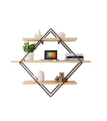 Küchenregal Haushaltsregal Multifunktions-Rack Wandbehang aus Holz Lagerregal Dekoration schwimmende Regal Display Regal Bücherregal Rekord Frame Pflanze Blume Frame Dekoration Home Office Modern