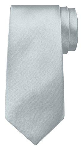 BomGuard Krawatte für Herren silber I Männer Krawatte schwarz,rotetc. für Hochzeit, Party oder edele Anlässe I Trendy Tie I