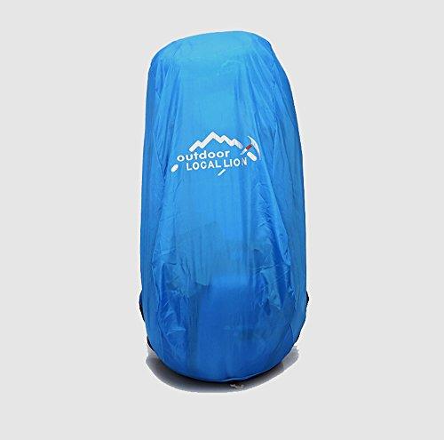 Hebike grande capienza 65L zaino sport outdoor escursionismo arrampicata corsa campeggio alpinismo viaggio zaino antipioggia borsa a tracolla, Blue Yellow