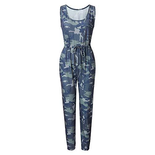 Control Panty Plus (Bibao Damen Lose Camouflage Verstellbarer Spagettischer Riemen breiter Bein Kordelzug Jumpsuits)