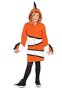 Leg Avenue- Niñas, Color Naranja, Small (110-116 cm de Altura) (LO49110)