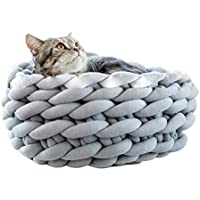 FastDirect Casa Linda Lavable Hecha a Mano de la Cama del Gato del Perro del Nido