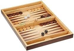 Philos 2508 - Schach-Backgammon-Dame-Set, Feld 32 mm, Königshöhe 65 mm, Magnetverschluss