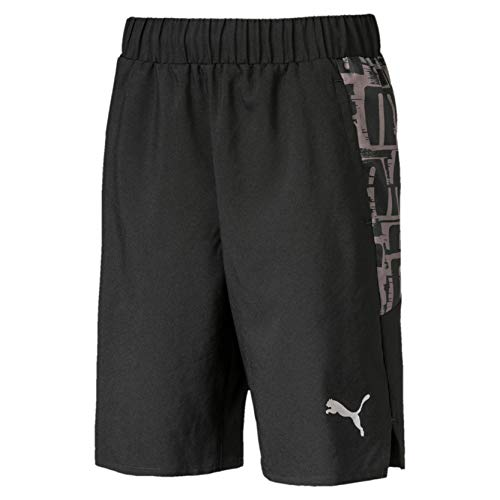 PUMA Jungen Active Sports AOP Woven B Shorts, Black, 176