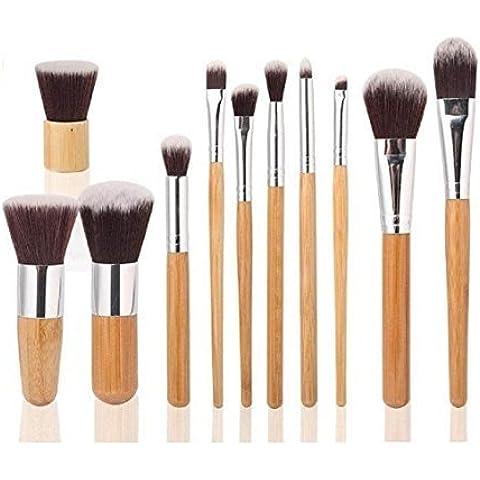 HOSL 11PCS Makeup Brush Set Powder Foundation