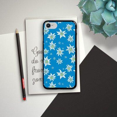 Apple iPhone X Silikon Hülle Case Schutzhülle Blumen Edelweiss Sommer Hard Case schwarz