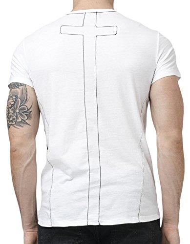 RELIGION Herren T-Shirt SKULL CROWN Weiß