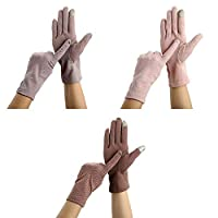 3 Pairs Women Sun Protective Gloves UV Protection Summer Sunblock Gloves Touchscreen Gloves for Driving Riding