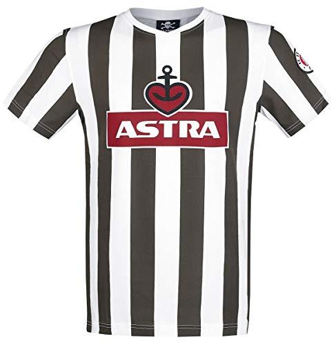 a2f138591dbc99 FC St. Pauli Traditions-Shirt Astra T-Shirt braun weiß XL