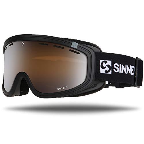 Sinner Skibrille Snowboard Brille UV Schutz Anti-Fog Skibrille fur Damen und Herren. Ski Goggle ist Skihelm kompatibel und besonders geeignet für Brillenträger. (Schwarz, Braun Blau Spiegel)