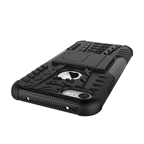 iPhone 8 Hülle,Valenth Hybrid Dual Layer-Schutzschicht zurück Hülle Stoß- Abdeckung für iPhone 8-Schwarz Grün