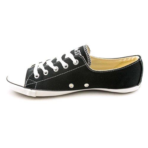 Converse - Femmes de lumière acoustiques aux basses chaussures supérieures en Noir / Blanc Black/White