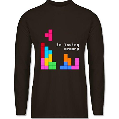 Nerds & Geeks - Tetris in loving memory - Longsleeve / langärmeliges T-Shirt für Herren Braun