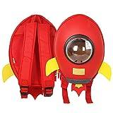 WaVes 3D Waterproof Rocket Kids Nursery Backpack,Kindergarten School Backpack for Boys and Girls