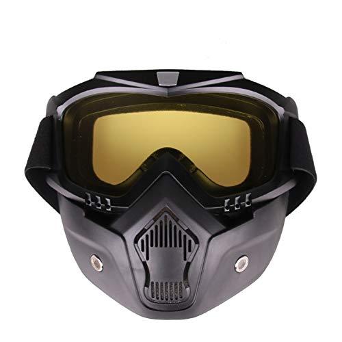 Adisaer Solarium Schutzbrille Die Motocross Schutzbrille Schützt Winddichte Skibrille Taktischen Schutzbrille Yellow Damen Herren