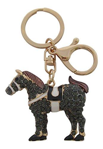 Erwachsene Schlüsselanhänger gold graphitgrau (E Ponys-picks)